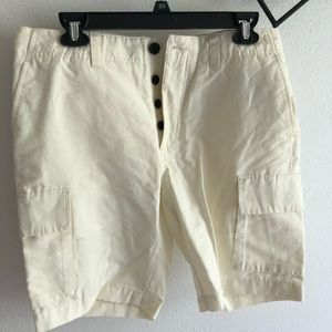 H&M Cargo Style Shorts US 32R Very Light Yellow